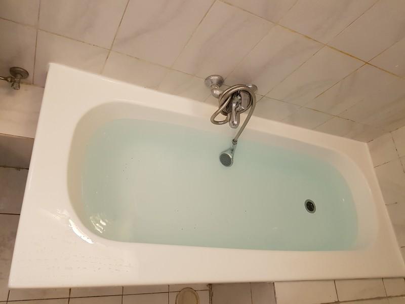 אמבטיה לאחר חיפוי