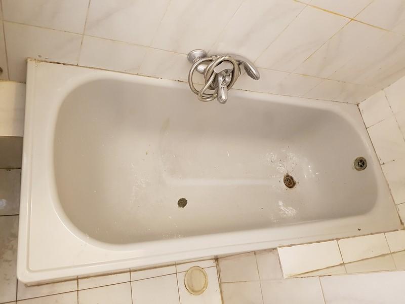 אמבטיה לפני חיפוי