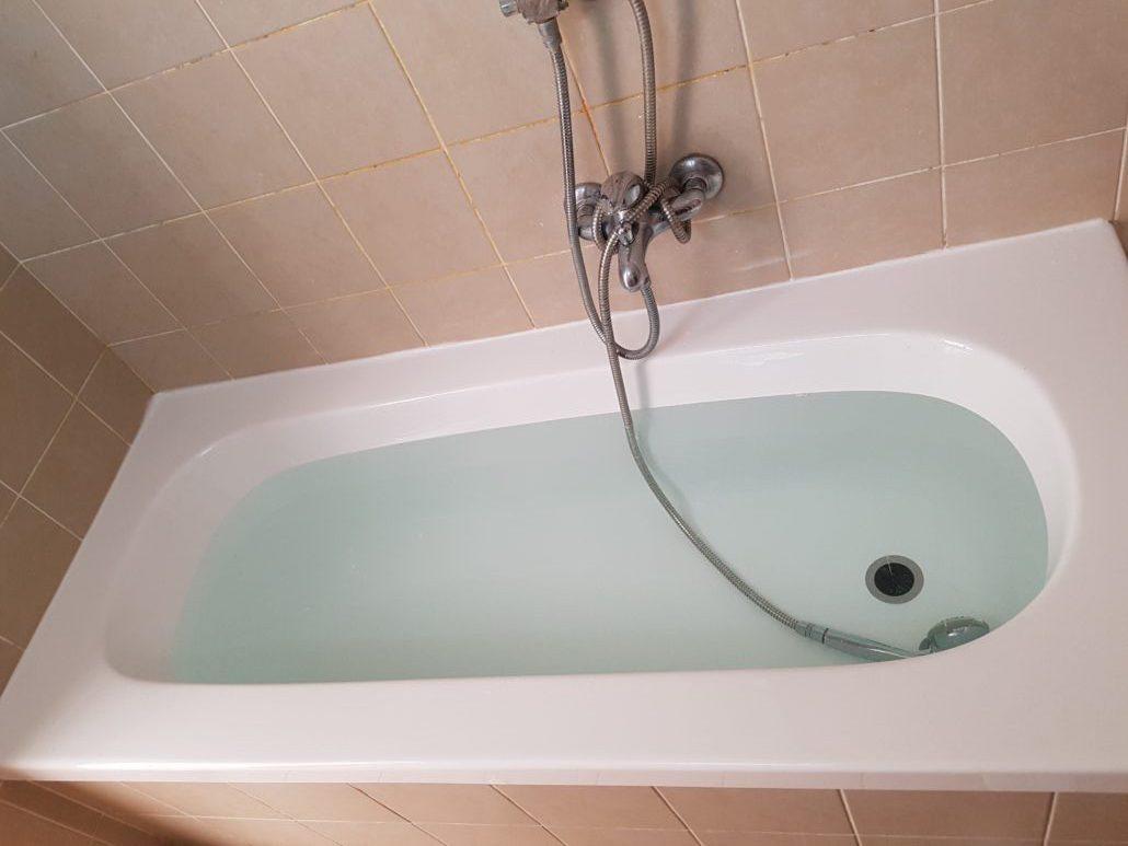 לאחר ציפוי אמבטיה